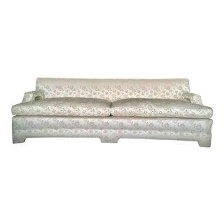 Mid Century Modern Chinoiserie Custom Sofa For Sale