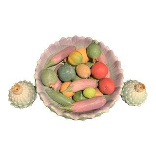 Mangani Artichoke Centerpiece Bowl With Matching Candlesticks For Sale