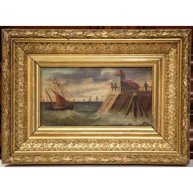 19th Century French Oil on Board Paintings - A Pair - Image 2 of 9