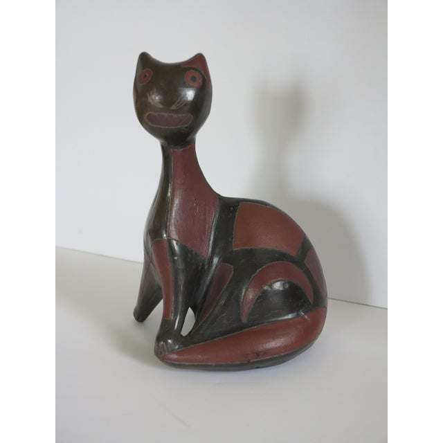 Mid-Century Ceramic Pottery Cat by Manuel Felguerez Barra For Sale In New York - Image 6 of 9