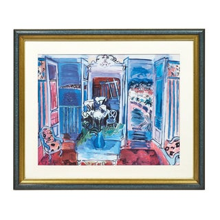 """""""Interior With Open Windows"""" Print by Raoul Duffy For Sale"""