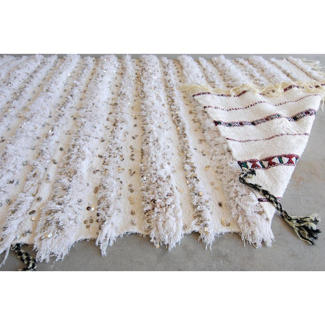 Vintage Moroccan Blanket Throw - Image 7 of 9