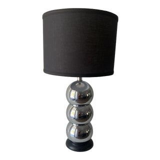 1970s Silver Chrome Stacking Ball Table Lamp in the Manner of George Kovacs For Sale
