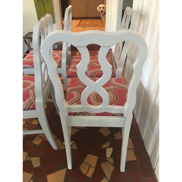 Dove Gray Ribbon Back Chairs - Set of 4 - Image 5 of 8