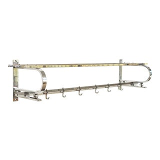 Vintage Art Deco Bauhaus Chrome Coat Rack and Hat Rack, 1930s For Sale