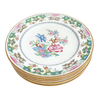 1862, 1863, 1864 Minton Chinoiserie Dessert Plates - Set of 6 For Sale