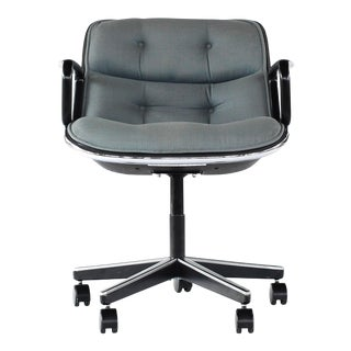 Vintage Mid Century Charles Pollock for Knoll Pollock Office Chair For Sale