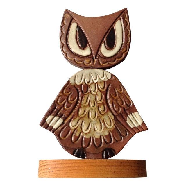 Mid-Century Modern Studio Pottery Owl Sculpture - Image 1 of 9