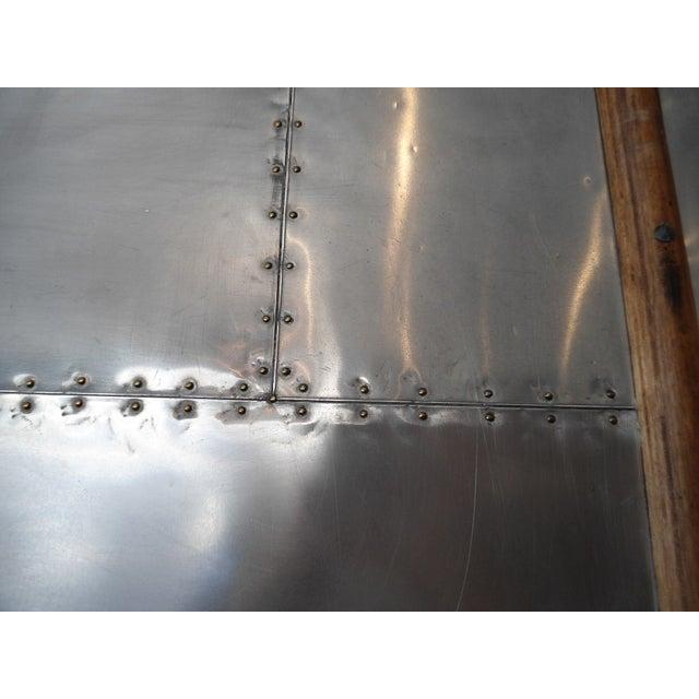 Restoration Hardware Steamer Trunk Secretary For Sale - Image 9 of 11
