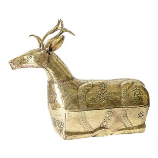 Antique Khmer Giant Deer/Stag Betel Box,Made in Cambodia For Sale