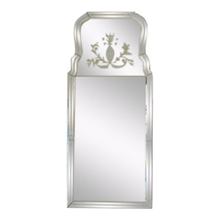Labarge Venetian Etched Glass Decorative Mirror For Sale