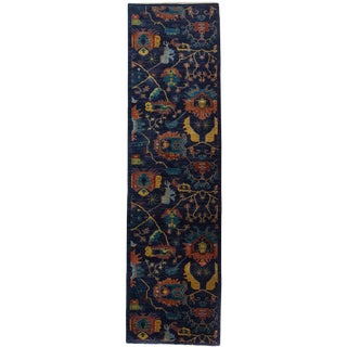 """Floral Hand Knotted Runner - 3'2"""" X 11'9"""""""