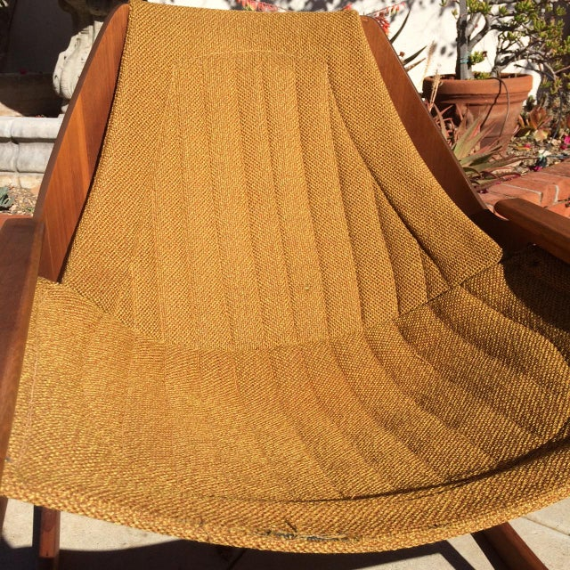 Brown Mid-Century Sculptural Rocking Chair by Jerry Johnson For Sale - Image 8 of 11