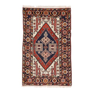 Vintage Heriz Persian Rug with Modern Tribal Style and Traditional Colors