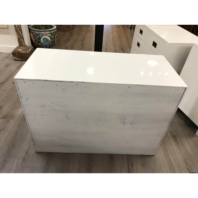 Henredon Pair of Campaign Style Chest by Henredon Home Furniture For Sale - Image 4 of 9