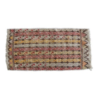Masterwork Hand-Woven Rug Braided Small Kilim For Sale