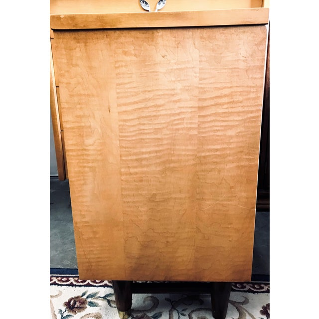 Mid 20th Century Mid-Century Modern Huntley Blonde Nightstand For Sale - Image 5 of 10