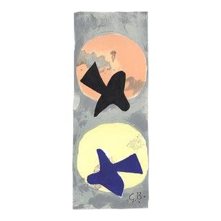 Georges Braque-les Oiseaux Iv-115-1959 Lithograph