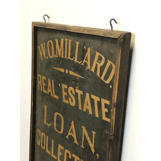 1900's Hand Painted Real Estate Sign. Framed in original wood frame.