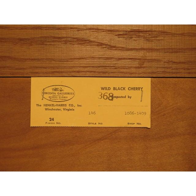 1980s Vintage Henkel Harris Philadelphia Queen Anne Cherry Highboy For Sale - Image 10 of 13