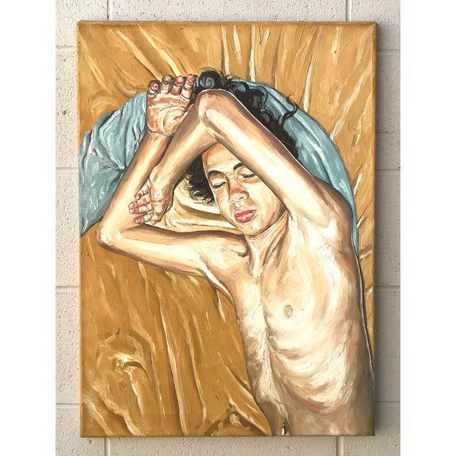 Artist - Fernando França Title - Life Study - Sleeping Boy Signed - Lower left Year - 2005 Medium - Acrylic on canvas...