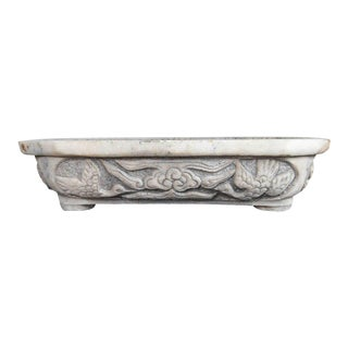 Mid-Century Carved Marble Planter For Sale