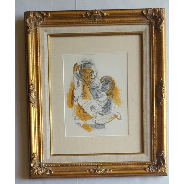 Original Abstract Drawing by Edward Goldman - Image 2 of 3