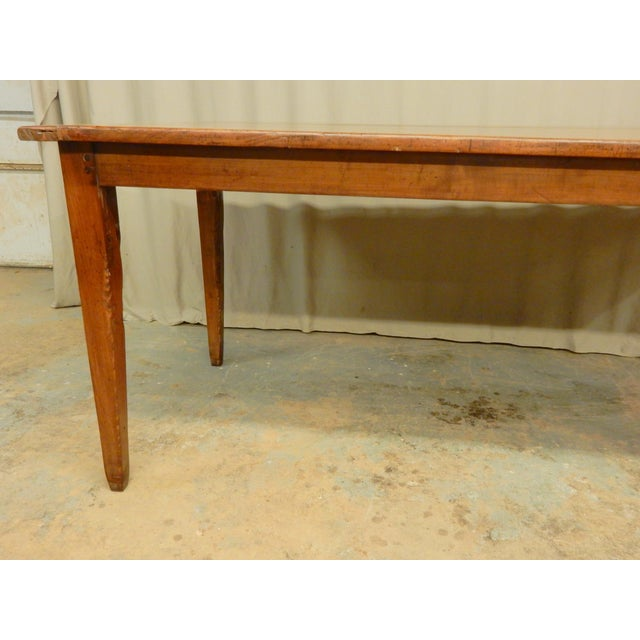 Early 19th C. French Walnut Farm Table For Sale - Image 4 of 8