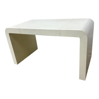 Jean-Michel Frank Style Goatskin Parchment Waterfall Side Table For Sale