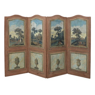 Four Panel French Country Screen For Sale