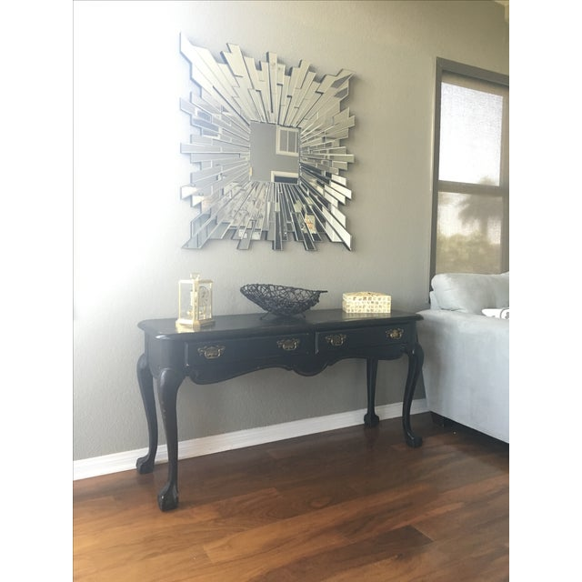 Antique Inspired Black Console Table - Image 4 of 9