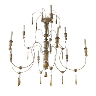 Two-Tier Italian Chandelier For Sale
