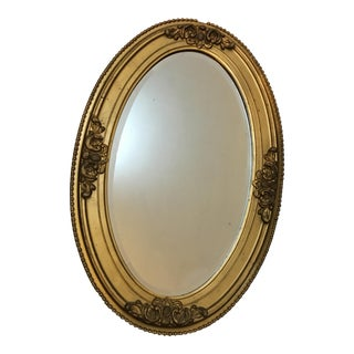 Gesso & Wood Gold Beveled Mirror