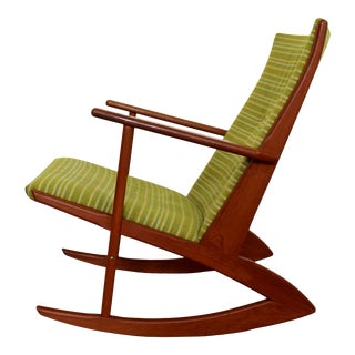 Mid Century Modern Georg Jensen Angular Rocker Rocking Chair 1950s Scandinavian For Sale