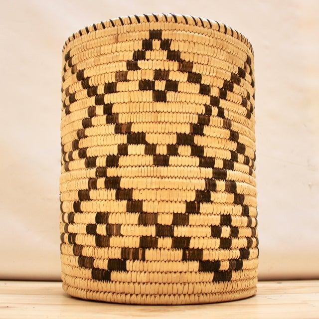 Native American Handwoven Tohono O'Odham Native American Basket For Sale - Image 3 of 10