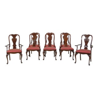 Set of 8 Stickley Solid Cherry Dining Room Chairs For Sale