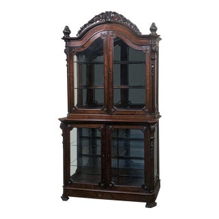 19th Century French Napoleon III Period Mahogany Bookcase ` Vitrine For Sale
