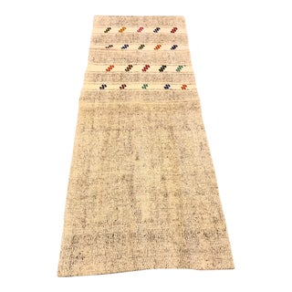 Antique Nomadic Handmade Kilim For Sale