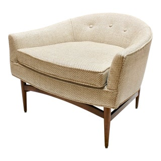 Mid 20th Century Lawrence Peabody Upholstered Lounge Chair For Sale