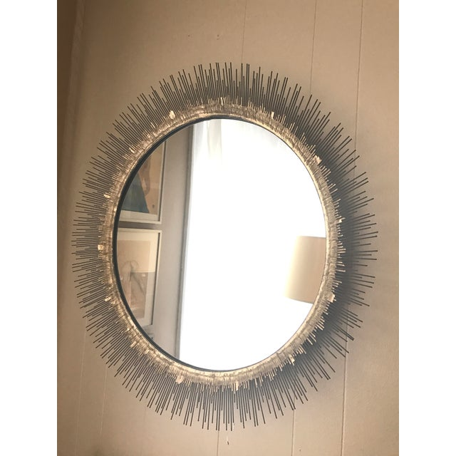 Crate & Barrel Clarendon Round Wall Mirror - Image 2 of 4