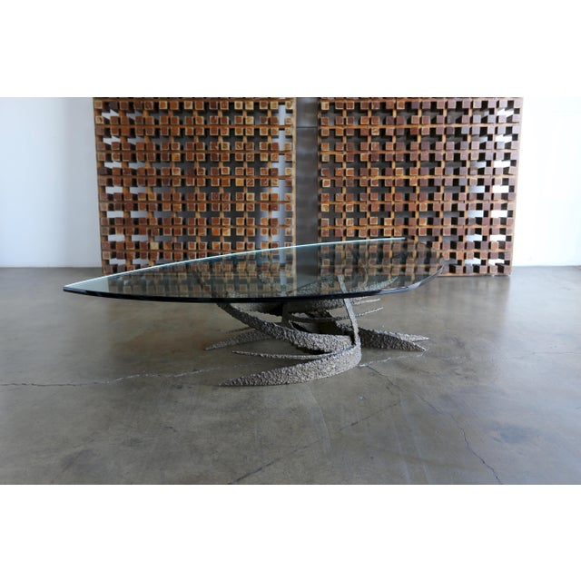 1960s Daniel Gluck Sculptural Bronze Coffee Table For Sale - Image 9 of 11