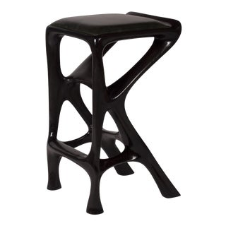Amorph Chimera Bar Stool, Stained Ebony For Sale