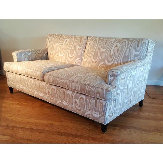 1940s Maison Jansen-Style Neutral Sofa For Sale - Image 5 of 7