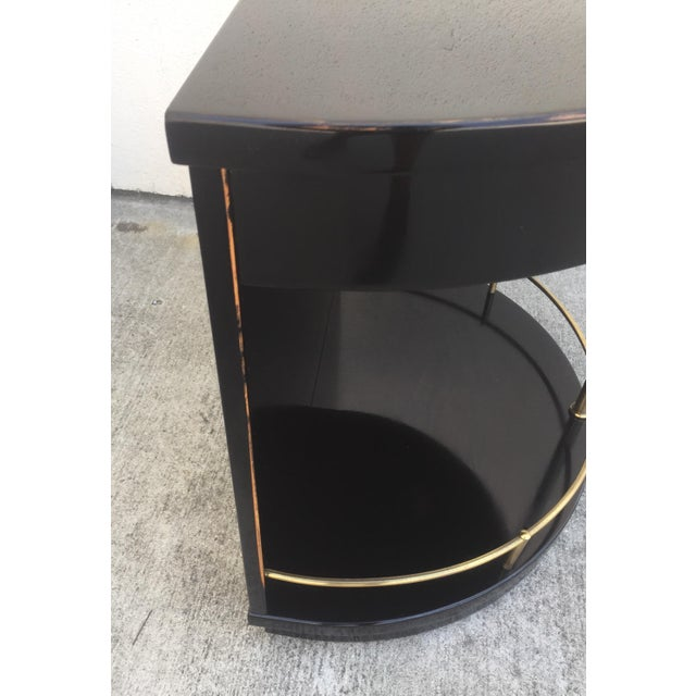 Henredon Black Lacquered Side Tables - A Pair For Sale In Los Angeles - Image 6 of 7