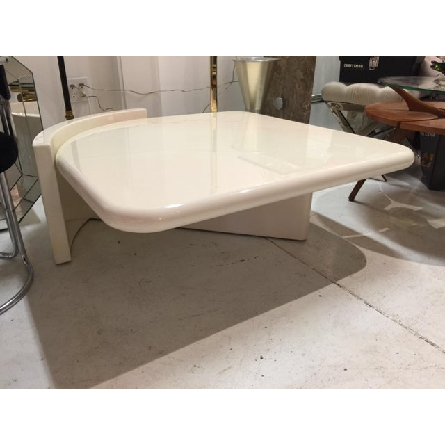 1980s 1980s Mid-Century Modern Lacquered Coffee Table For Sale - Image 5 of 5