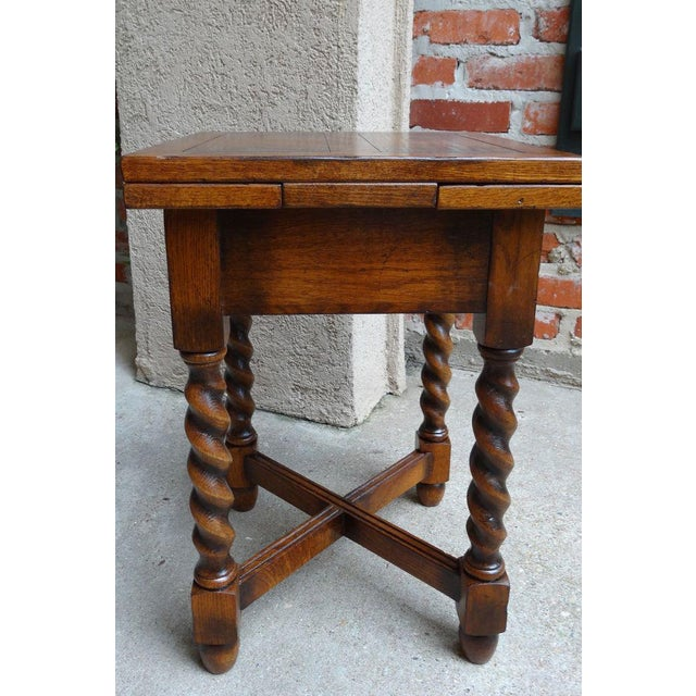 Vintage Mid-Century English Draw Leaf Tea Table For Sale In Dallas - Image 6 of 11