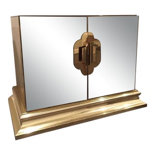 1960s Mirrored Hollywood Regency Nightstand by Ello For Sale