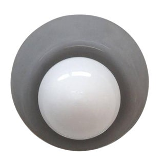 "Black Nickel ""Concha"" Wall Light For Sale"