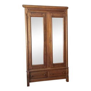 Antique Mirrored Armoire For Sale