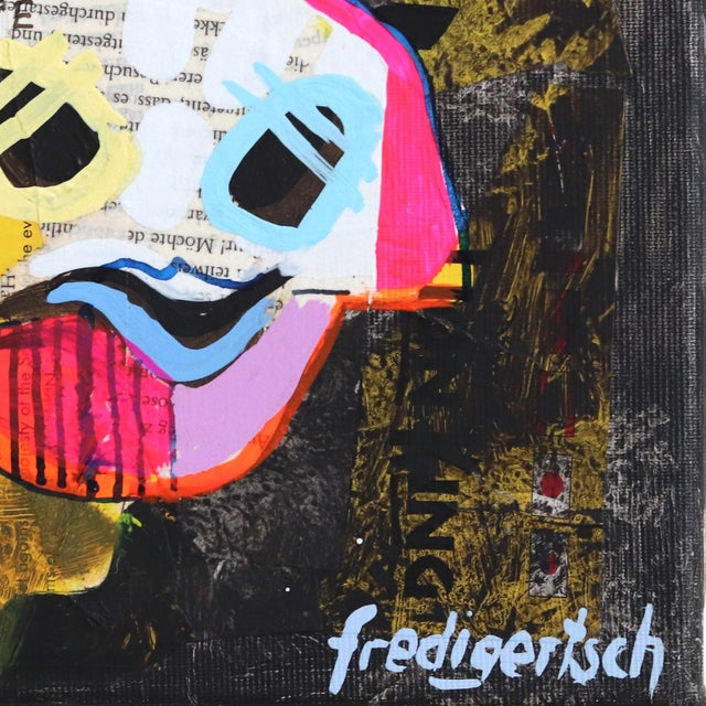 Swiss artist Fredi Gertsch creates lively colorful pop-folk art paintings with one inexhaustible element: the Emmentaler...